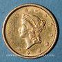 Monnaies Etats Unis. 1 dollar 1852. (PTL 900‰. 1,67 g)
