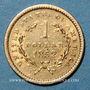 Monnaies Etats Unis. 1 dollar 1852. (PTL 900/1000. 1,67 g)