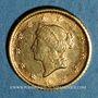 Monnaies Etats Unis. 1 dollar 1853. (PTL 900‰. 1,67 g)