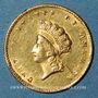 Monnaies Etats Unis. 1 dollar 1855. (PTL 900/1000. 1,67 g)