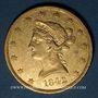 Monnaies Etats Unis. 10 dollars 1842O. New Orleans. (PTL 900/1000. 16,71 g)