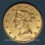 Monnaies Etats Unis. 10 dollars 1854. (PTL 900/1000. 16,71 g)