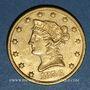 Monnaies Etats Unis. 10 dollars 1856. (PTL 900/1000. 16,71 g)