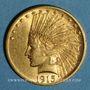 Monnaies Etats Unis. 10 dollars 1915. Tête d'indien. (PTL 900‰. 16,71 g)