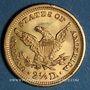 Monnaies Etats Unis. 2 1/2 dollars 1905. (PTL 900/1000. 4,18 g)