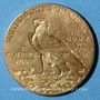 Monnaies Etats Unis. 2 1/2 dollars 1910. Tête d'indien. (PTL 900/1000. 4,18 g)