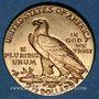 Monnaies Etats Unis. 2 1/2 dollars 1914. Tête d'indien. (PTL 900‰. 4,18 g)