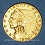 Monnaies Etats Unis. 2 1/2 dollars 1926. Tête d'indien. (PTL 900‰. 4,18 g)
