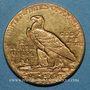 Monnaies Etats Unis. 2 1/2 dollars 1928. Tête d'indien. (PTL 900‰. 4,18 g)