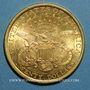 Monnaies Etats Unis. 20 dollars 1895. (PTL 900‰. 33,43 g)