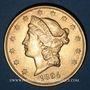 Monnaies Etats Unis. 20 dollars 1896 S. San Francisco. (PTL 900‰. 33,43 g)