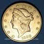 Monnaies Etats Unis. 20 dollars 1898 S. San Francisco. (PTL 900‰. 33,43 g)