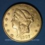 Monnaies Etats Unis. 20 dollars 1907. (PTL 900/1000. 33,43 g)