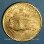 Monnaies Etats Unis. 20 dollars 1908. Statue de la Liberté. (PTL 900 ‰. 33,43 g)