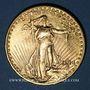 Monnaies Etats Unis. 20 dollars 1914 D. Denver. Statue de la Liberté. (PTL 900‰. 33,43 g)