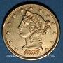Monnaies Etats Unis. 5 dollars 1880. (PTL 900‰. 8,36 g)