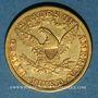 Monnaies Etats Unis. 5 dollars 1881. (PTL 900‰. 8,36 g)