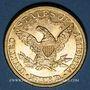 Monnaies Etats Unis. 5 dollars 1882. (PTL 900/1000. 8,36 g)
