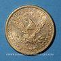 Monnaies Etats Unis. 5 dollars 1882 S. San Francisco. (PTL 900‰. 8,36 g)