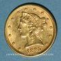 Monnaies Etats Unis. 5 dollars 1895. (PTL 900‰. 8,36 g)
