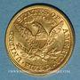 Monnaies Etats Unis. 5 dollars 1895. (PTL 900 /1000. 8,36 gr)