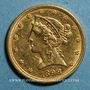 Monnaies Etats Unis. 5 dollars 1898. 900 /1000. 8,36 gr