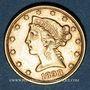 Monnaies Etats Unis. 5 dollars 1898. (PTL 900‰. 8,36 g)