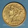 Monnaies Etats Unis. 5 dollars 1898. (PTL 900/1000. 8,36 g)