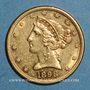 Monnaies Etats Unis. 5 dollars 1898 S San Francisco. (PTL 900‰. 8,36 g)