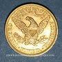 Monnaies Etats Unis. 5 dollars 1899. 900 /1000. 8,36 gr