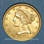 Monnaies Etats Unis. 5 dollars 1899. (PTL 900/1000. 8,36 g)