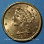 Monnaies Etats Unis. 5 dollars 1901. (PTL 900/1000. 8,36 g)