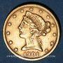 Monnaies Etats Unis. 5 dollars 1901 S. San Francisco. (PTL 900‰. 8,36 g)