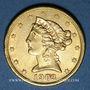 Monnaies Etats Unis. 5 dollars 1903 S. San Francisco. (PTL 900‰. 8,36 g)