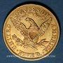 Monnaies Etats Unis. 5 dollars 1904. (PTL 900‰. 8,36 g)