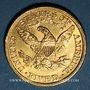 Monnaies Etats Unis. 5 dollars 1907. (PTL 900‰. 8,36 g)