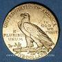 Monnaies Etats Unis. 5 dollars 1908. Tête d'indien. (PTL 900‰. 8,36 g)