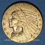 Monnaies Etats Unis. 5 dollars 1909. Tête d'indien. (PTL 900‰. 8,36 g)