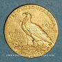 Monnaies Etats Unis. 5 dollars 1909D. Denver. Tête d'indien. (PTL 900/1000. 8,36 g)