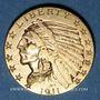Monnaies Etats Unis. 5 dollars 1911. Tête d'indien. (PTL 900/1000. 8,36 g)