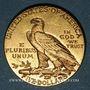 Monnaies Etats Unis. 5 dollars 1912. Tête d'indien. (PTL 900‰. 8,36 g)