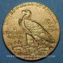 Monnaies Etats Unis. 5 dollars 1912. Tête d'indien. (PTL 900/1000. 8,36 g)