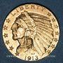 Monnaies Etats Unis. 5 dollars 1913. Tête d'indien. (PTL 900/1000. 8,36 g)