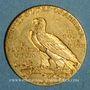 Monnaies Etats Unis. 5 dollars 1915. Tête d'indien. (PTL 900‰. 8,36 g)