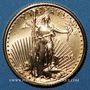 Monnaies Etats Unis. 5 dollars 1998. (PTL 917‰. 3,39 g)