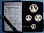 Monnaies Etats Unis. Série de 4 monnaies d'or en flan bruni (American Eagle Gold), 5, 10, 25, 50 dollars