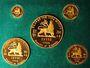 Monnaies Ethiopie. Hailé Selassié. Coffret de 1966 : 10, 20, 50, 100, 200 dollars (PTL 900‰. 152 g)