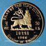 Monnaies Ethiopie. Hailé Selassié I (1930-1936, 1941-1974). 50 dollars 1966. (PTL 900‰. 20 g)