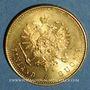 Monnaies Finlande. Alexandre II (1855-1881). 20 markkaa 1879 S. (PTL 900‰. 6,45 g)