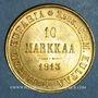 Monnaies Finlande. Nicolas II (1894-1917). 10 markkaa 1913 S. (PTL 900‰. 3,23 g)